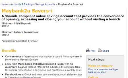 maybank2u savers-i review
