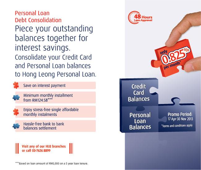 Hong leong debt consolidation promotion pinjaman peribadi.